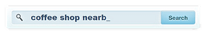 Customers use searchbars like these to find local businesses - use pegausus to help you get found online